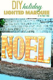 outdoor diy marquee sign for the holidays damagefreediy at the