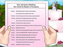 typical wedding program how to mc a wedding 14 steps with pictures wikihow