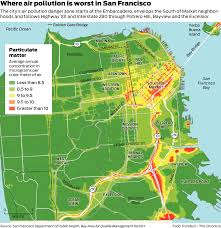 San Francisco Zip Code Map Neighborhood by Map Shows Which Sf Neighborhoods Are Hit Hardest By Air Pollution
