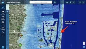 Florida East Coast Map by Many Trump Properties Could Be Underwater Due To Rising Sea Levels