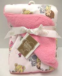 Precious Moments Nursery Decor Precious Moments Baby Infant Reversible High Quality Blanket Pink