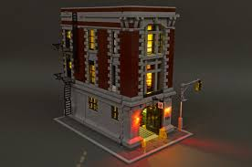 brickstuff lighting kit for the lego ghostbusters firehouse