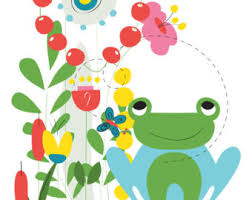 Frog Nursery Decor Frog Nursery Print Poster Nursery Printable Wall