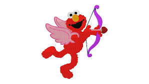 elmo valentines free embroidery designs elmo cupid from sesame daily