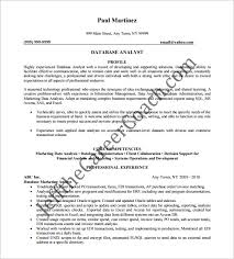 marketing analyst resume template u2013 10 free word excel pdf