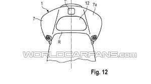 porsche cartoon drawing porsche files a patent for a headrest mounted wind deflector