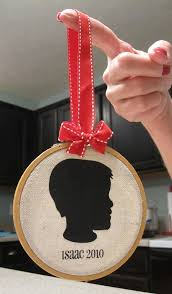 vintage silhouette ornament by beckie at infarrantly creative
