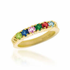 mothers ring 7 stones personalized birthstone s ring in 14k gold 3 7 stones
