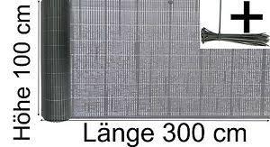 sichtschutz balkon grau balkon sichtschutz 100 x 300 cm blickschutz pvc kunststoff farbe