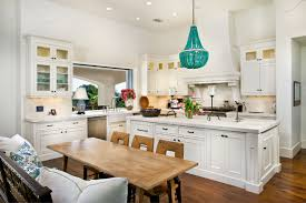 Turquoise Kitchen Decor by Beachy Kitchen Table Like The Bench Color And Style But Make Into