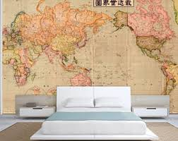 world map wall mural painting map wallpaper colorful world