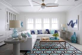 White Modern Rug White Modern Sectional With Turquoise And Navy Blue Pillows