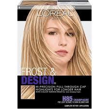 hair frosting for dark hair amazon com l oréal paris frost and design cap hair highlights