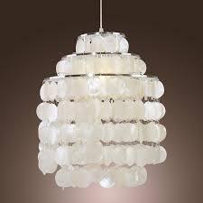 Capiz Shell Light Fixtures Lightinthebox Modern White Shell Pendant Chandelier Mini Style