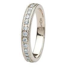 celtic knot wedding bands diamond set knot wedding band