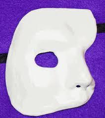 plain mask phantom of the opera mask