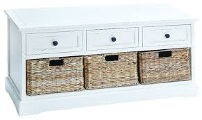 White Bench With Storage Best Wood Storage Bench With Baskets Small White Drawers