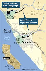 Map Of Cambria Ca A Thirsty Town Debates Need For New Source Of Water Drought