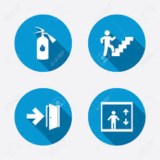 fire extinguisher symbol on floor plan emergency exit icons fire extinguisher sign elevator or lift