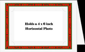 photo insert cards christmas border photo insert cards