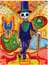 trippy art gothic home decor masonic skeleton poster day of