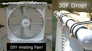 Homemade Outdoor Misting System by Diy Evap Cooling Fan Homemade