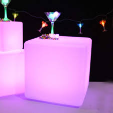 light up cubes light up cube glowing led box multi function rechargeable remote