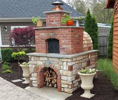 Pizza Oven Outdoor Fireplace by Hollenbeck Wood Fired Outdoor Brick Pizza Oven By Brickwood Ovens