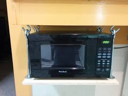 Mount Toaster Oven Under Cabinet Hanging Microwave Shelf 5 Steps With Pictures