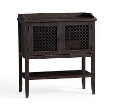 Metal Bar Cabinet Wood Lattice Door Bar Cabinet