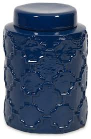 essentials marine blue small canister contemporary kitchen