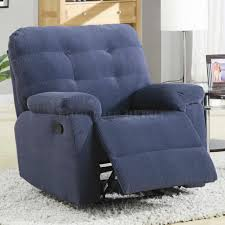 Contemporary Recliners Furniture Interesting Modern Recliner Chair With Blue Color And