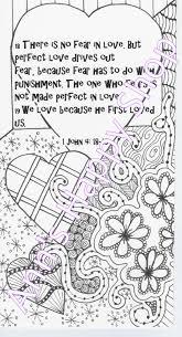 bible memory verse coloring page 1 john 4 18 19 by annshappyshop