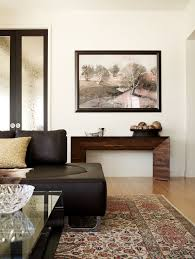 Console Table In Living Room Wide Console Table Living Room Contemporary With Area Rug Artwork