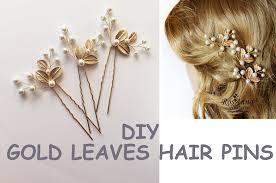 wedding hair pins easy diy bridal gold leaves hair vine pins bridal hair tutorial