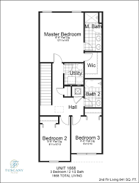 floor plans 1668 sqft tuscany place townhouses