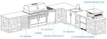Kitchen Blueprints Sample Outdoor Kitchen Plan Aspen Layout House Ideas