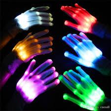 2017 led lighting gloves novelty glove led light