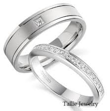 his and hers white gold wedding rings matching diamond wedding rings his and hers wedding bands 14k