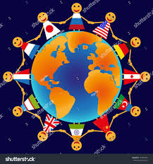 picture holding different countries stock vector