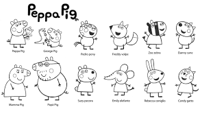 best free peppa pig cartoon coloring pages for kids coloring7 com
