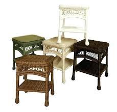 round wicker end table wicker basket end tables basket end tables lovely side table white