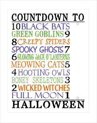 today u0027s fabulous finds printable halloween countdown wood block