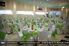 deco salle mariage présentation de la décoration couleur vert de la salle elysée mariage