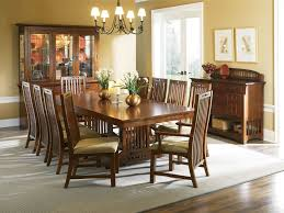Broyhill Dining Table And Chairs Broyhill Furniture Artisan Collection Mission Style Trestle Dining