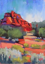 painting my world sedona by day painting on the deck with my