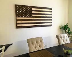 American Flag Living Room by Wood American Flag Etsy