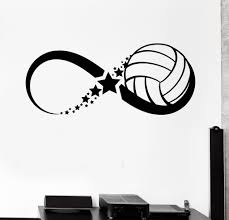 vinyl wall decal volleyball ball sport game infinity stickers