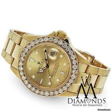 golden ferrari with diamonds rolex diamond rolex yacht master 18k yellow gold champagne dial