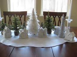 home made decoration pieces interesting christmas table decoration featuring homemade white